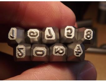 Numeratory komplet 9 sztuk 4 mm