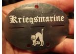 Nieśmiertelnik niemiecki aluminium Kiregsmarine U-96