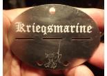 Nieśmiertelnik niemiecki aluminium Kiregsmarine U-48