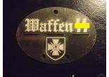 """Nieśmiertelnik niemiecki aluminium 9 Dywizja Pancerna SS """"Hohenstaufen"""""""