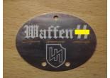 Nieśmiertelnik niemiecki aluminium 14 Dywizja Grenadierów SS (1 ukraińska)