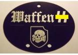 """Nieśmiertelnik niemiecki aluminium 3 Dywizja Pancerna SS """"Totenkopf"""""""