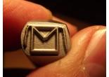 Masonic stamp 8,3 x 7,2 mm