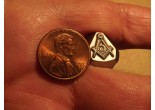 Masonic stamp 7,3 x 7,1 mm