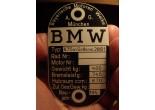ID Plate BMW R75 m