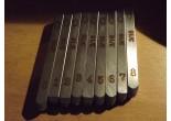 10 Stück Stahl Anzahl Ziffer Punsch Set Merz 7 mm