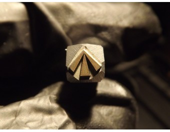 Arrow stamp in a triangle Mosin
