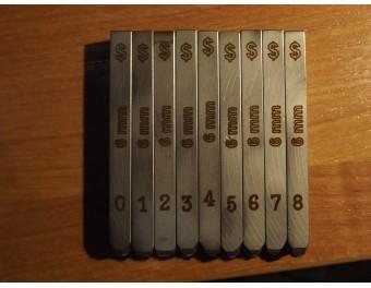 Numeratory komplet 9 sztuk mauser 3 mm