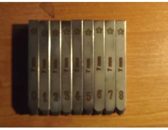 Numeratory komplet 9 sztuk 8,5 mm