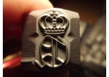 Stamp Crown letter Q gothic Mosin K98 P08 P38 Punch