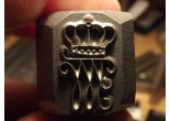 Stamp Crown letter W gothic Mosin K98 P08 P38 Punch
